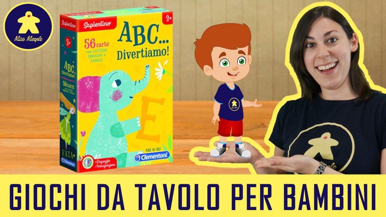 Scrivania Per Bambini 2 Anni : Abc divertiamo gioco da tavolo per bambini clementoni